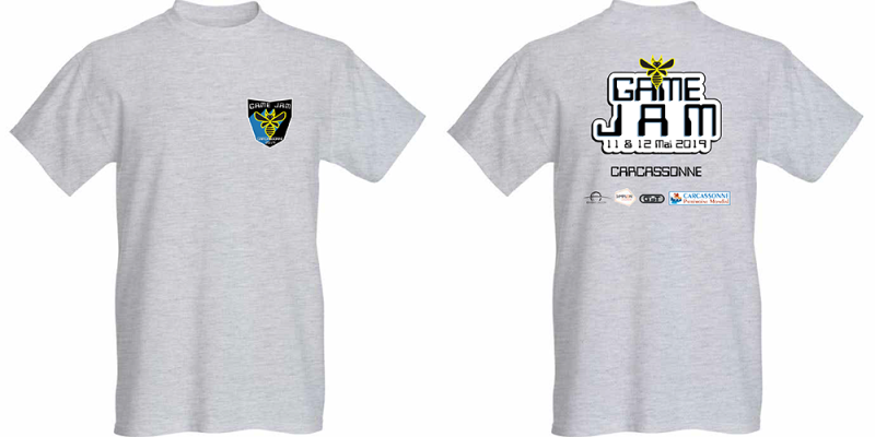 T-shirt public GameJam Carcassonne